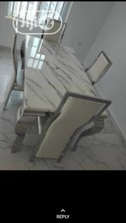 Portable Marble Dining Table With 4 Chairs | Furniture for sale in Lagos State, Ikeja