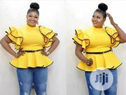New Female Turkey Yellow Top With Belt | Clothing Accessories for sale in Lagos State, Lagos Island