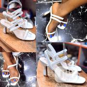 New Classic Ladies White Heel Sandals | Shoes for sale in Lagos State, Ikeja