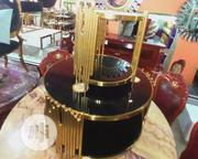 Round Gold Center Table With 2 Sides Stools | Furniture for sale in Lagos State, Lekki Phase 2