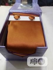 Set Of Beige Designers Corporate Tie With Cufflinks   Clothing Accessories for sale in Lagos State, Victoria Island