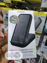 15W Samsung Wireless Charger Stand Fast Charge With Fan Cooling | Accessories for Mobile Phones & Tablets for sale in Lagos State, Ikeja