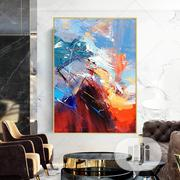 Hand-painted Large Abstract Colorful Oil Painting Canvas For Decor | Building & Trades Services for sale in Lagos State, Lagos Island