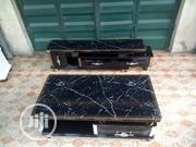 Original Quality Black TV Stand And Center Table With Marble Top | Furniture for sale in Lagos State, Magodo