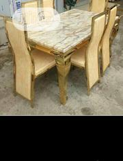Marble Dinning Table With Six Chairs | Furniture for sale in Lagos State, Ojo