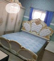 Royal Bed With Wordrobe And Mattrass Gold And White | Furniture for sale in Lagos State, Ojo