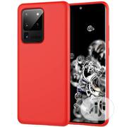 Samsung S20 Ultra Soft Silicone Protective Back Case - Red. | Accessories for Mobile Phones & Tablets for sale in Lagos State, Ikeja