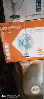 Kamisafe Rechargeable Table Fan 12 Inch | Home Appliances for sale in Lagos State, Amuwo-Odofin