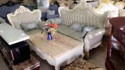 Royal Leather Chair With Carvings   Furniture for sale in Lagos State, Ojo