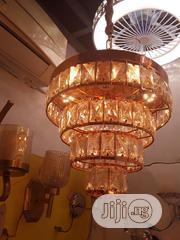Christal Gold Chandelier With Glass | Home Accessories for sale in Lagos State, Ojo
