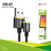 Omni High Quality USB Fast Charge Cable 2.4A | Accessories for Mobile Phones & Tablets for sale in Lagos State, Ojo