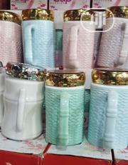 Ceramic Cup With Mirror Cover | Kitchen & Dining for sale in Lagos State, Kosofe