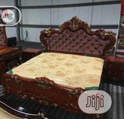 Imported Royal Bed With Glossy With Glossy Mirror Table | Furniture for sale in Lagos State, Ikeja