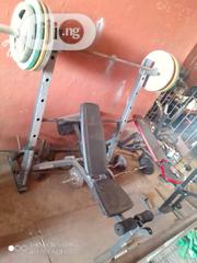 Olympic Bench With 150kg Oympic Weight | Sports Equipment for sale in Lagos State, Surulere