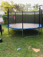 14feet Trampoline With Ladder   Sports Equipment for sale in Lagos State, Magodo
