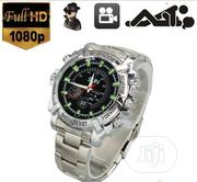 8gb Spy Video Camera Chain Wrist Watch - Silver | Security & Surveillance for sale in Lagos State, Ikotun/Igando