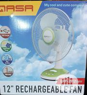 QASA Rechargable Table Fan 12"