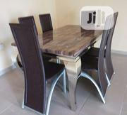 Quality Marble Dining Table for 6 Seater Chairs | Furniture for sale in Lagos State, Ikeja