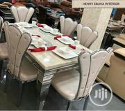 Quality and Classic Loyal Marble Dining Table for 6 Seater Chairs | Furniture for sale in Lagos State, Ikeja