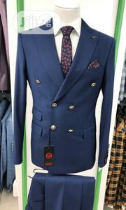 Navyblue Turkish Brands Double Breasted Suits by MC   Clothing for sale in Lagos State, Lagos Island