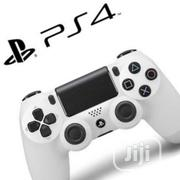 PS4 White Gamepad Controller (New)1 Year Warranty | Accessories & Supplies for Electronics for sale in Lagos State, Ikeja