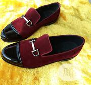 Red Suede Cap Tie Loafers With Horsebits | Clothing Accessories for sale in Lagos State, Amuwo-Odofin