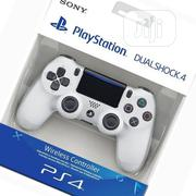 PS4 Play Station 4 White Gamepad Controller 1 Year Warranty | Accessories & Supplies for Electronics for sale in Lagos State, Ikeja