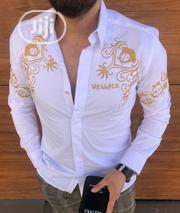 New Men Versace White Collar Shirt | Clothing for sale in Lagos State, Lagos Island