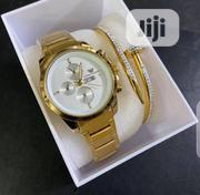 Classic Emporio Armani Ladies Wristwatch With Iced Nail Bracelet | Jewelry for sale in Lagos State, Lagos Island
