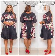 Quality Turkish Floral Pleats Dress | Clothing for sale in Lagos State, Ikeja