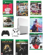 Xbox One S With 2 Pads And 8 Latest Games | Video Game Consoles for sale in Lagos State, Ikeja
