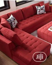 Red Lshaped Sofa Set | Furniture for sale in Lagos State, Ajah