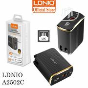 Ldnio A2502C Eu Plug Qc3.0 Usb+Type-c Pd Travel USB Charger   Accessories for Mobile Phones & Tablets for sale in Lagos State, Ikeja