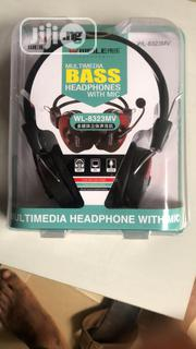 Wired Head Set With Mic Bass Multimedia Headphones | Headphones for sale in Lagos State, Ikeja