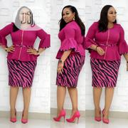 Pinky Corporate Turkey Outfit in 2 Pieaces Top and Skirt | Clothing for sale in Lagos State, Isolo