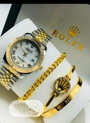 Rolex Unisex Silver Gold Wristwatch Bracelets | Jewelry for sale in Lagos State, Surulere