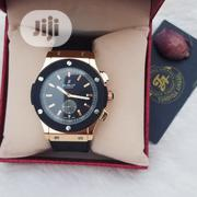 Hublot Black Strap Rosegold Face | Watches for sale in Lagos State, Ajah