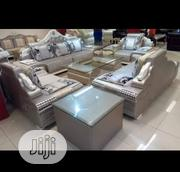 Original Sitting Room Sofas With Glass Center Table And Side Stoll | Furniture for sale in Rivers State, Port-Harcourt