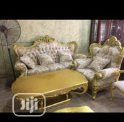 Original Royal Gold Sitting Room Sofas With Center Table | Furniture for sale in Rivers State, Port-Harcourt