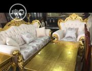 Original Royal Gold Sitting Sofas With Gold Center Table | Furniture for sale in Rivers State, Port-Harcourt