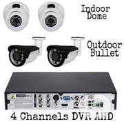 4 Channels DVR Machine 1080N +2 Indoors Camera +2 Outdoor 2MP | Security & Surveillance for sale in Lagos State, Ojo