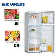 Skyrun 168-Litres Double Door Top Mount Fridge Bcd-168m-Golden | Kitchen Appliances for sale in Abuja (FCT) State, Wuse