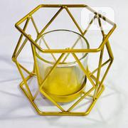 Hexagonal Tealight Candle Holder Gold | Home Accessories for sale in Lagos State, Yaba