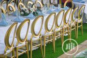 Gold Zero Back Chairs At Classicus Rentals For Rent | Party, Catering & Event Services for sale in Lagos State, Surulere