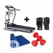 American Fitness 2HP Treadmill With Massager + Free 1kg Dumbbells | Sports Equipment for sale in Lagos State, Lekki Phase 2