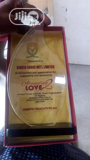 Acrylic Award With Printing | Arts & Crafts for sale in Lagos State, Ikeja