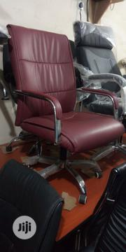 High Quality Leather Office Chairs Wine Colour   Furniture for sale in Lagos State, Lagos Island