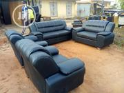 7 Seater Black Leather Sofa for Sale   Furniture for sale in Lagos State