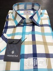 HOMEM Cutton Short Sleeves Shirts Check Pattern. Made in Turkey   Clothing for sale in Lagos State, Lagos Island