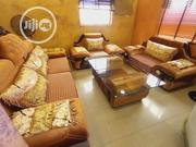 7 Seater Sofa Fabric And Leather With Center Table   Furniture for sale in Lagos State, Ajah